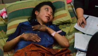 TKW Erwiana Sulistyaningsih sempat dirawat di rumah sakit di Jawa Tengah karena luka-lukanya - ( ANTARA FOTO/Andika Betha)