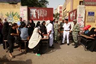 Suasana pilpres Mesir 2012 (perbandingan)