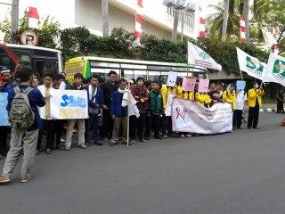 Ilustrasi - Aksi aktivis dakwah kampus dalam isu Timur Tengah. (Ary)