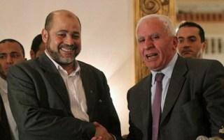 Musa Abu Marzuq dan Azzam Al-Ahmad dalam sebuah pertemuan (paltimes)