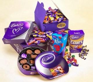 Beberapa jenis coklat cadbury. (mybeautyhack.com)