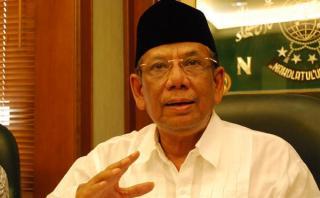 Mantan Ketua Umum Pengurus Besar Nahdlatul Ulama (PBNU) KH Hasyim Muzadi  - (tribunnews.com)