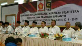 Deklarasi dukungan PKS kepada Capres Gerindra Prabowo Subiyanto, Sabtu (17/5) - Foto: dakwatuna.com