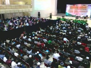 Seminar Akbar Metode 40 Hari Menghafal al Quran di Gedung Multi Purpose UIN Sunan Kalijaga Yogyakara, Ahad (4/5) - (Foto: Wahdah Islamiyah)