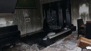 Kondisi Rumah Almarhum Uje setelah kebakaran.  (okezone.com)