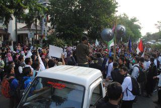 Aksi Solidaritas Solo Raya untuk Palestina.  (Al Fatih)