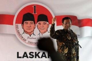 Ketua Tim Sukses Pemenangan Prabowo Subianto-Hatta Rajasa, Mahfud MD.  (Republika.co.id)