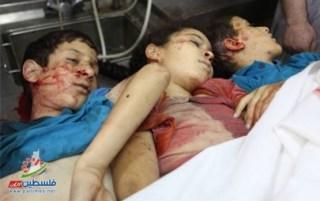 Anak-anak Palestina yang menjadi korban kebengisan Israel (Palestine Times)