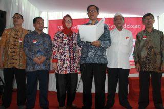 "Deklarasi ""Merdeka dari Stigma dan Diskriminasi Kusta"" oleh Komisi Nasional (Komnas) Kusta, Minggu, (24/8/14). ((GM/MJ)"