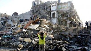 Sisi kehancuran bangunan di Gaza (www.aps.dz)