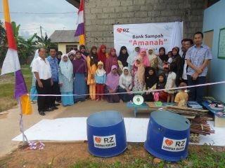 Bank Sampah 'amanah', salah satu Bank Sampah binaan RZ.  (sayasih/rz)