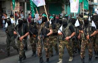 Parade pasukan Al-Qassam di tengah kota paska kemenangan Gaza (jadidpresse.com)