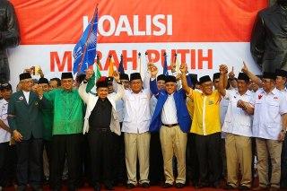 Ketua-Ketua Partai Pendukung Koalisi Merah Putih (KMP).  (asatunews.com)
