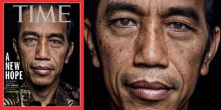 Sampul Majalah Time Bergambar Jokowi.  (inilah.com)