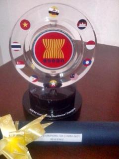 Penghargaan terhadap lembaga atau komunitas ASEAN yang bergerak dibidang ketahanan dalam bidang penanggulangan kebencanaan. (nisa/kis/pkpu).
