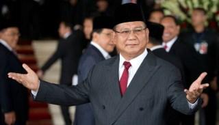 Prabowo Subianto hadir dalam pelantikan Presiden RI ke-7 Joko Widodo.  (tempo.co)