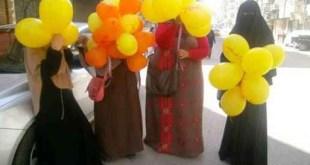 4 Gadis Mesir pendukung Mursi di hari Idul Adha 2013. (egyptwindow.net)
