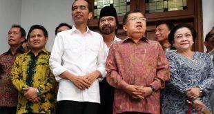 Jokowi-JK bersama pimpinan partai KIH. (metrotvnews.com)
