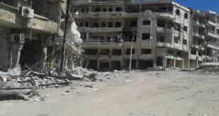 Salah satu sudut kota Madhaya, Suriah. (zamanalwsal.net)