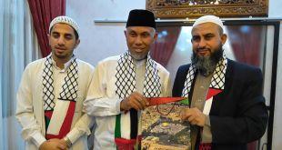 Walikota Padang, Mahyeldi Ansharullah bersama ulama dari palestina. (KNRPMedia)