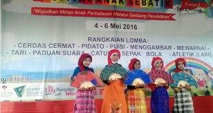 Festival Anak Sebatik tanggal 4 - 6 Mei 2016. (Achmad Salido)