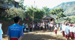 Setelah puluhan tahun, Bendera Merah Putih Akhirnya bisa berkibar di Dusun Cindakko. (Nurhayani/Putri/PKPU)