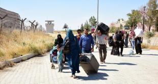 Pengungsi Suriah kembali ke rumahnya di Jarabulus. (aa.tr.com)