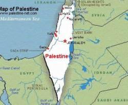 Ilustrasi - Peta Palestina (palestine-net.com)