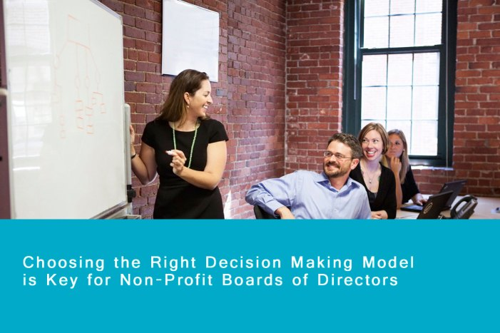 Choosing the Right Decision Making Model for your Non-Profit Board of Directors