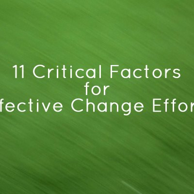 Effective Change Efforts