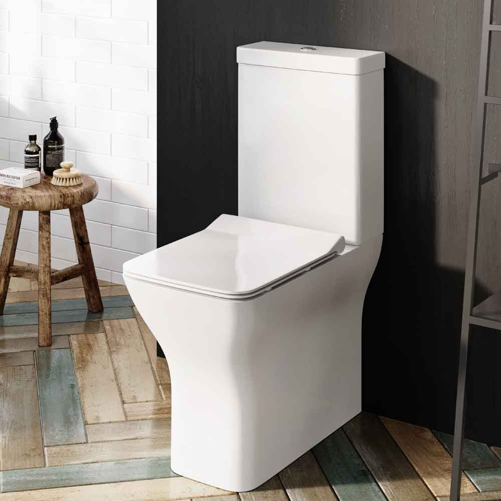 Alma Comfort Height Close Coupled Rimless Toilet Soft Close Seat Dale Bathrooms