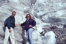 Touching a glacier