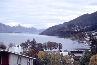 View of Lake Wakatipu from hotel