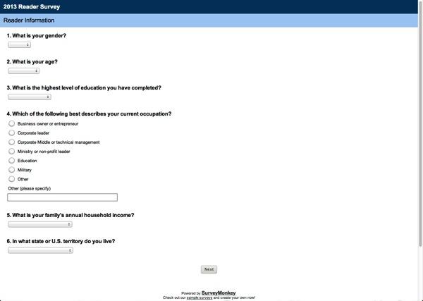 reader survey surveymonkey