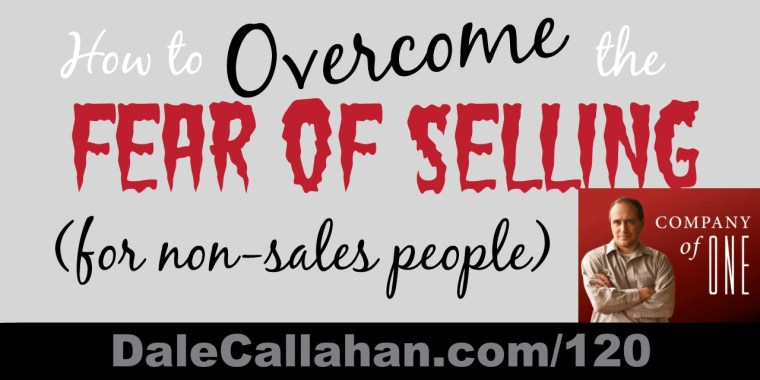 how to overcome the fear of selling
