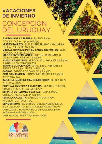 vacaciones de invierno en Concepcion del Uruguay