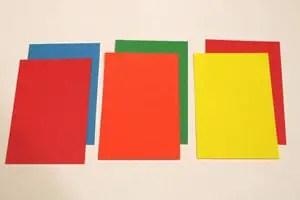 papel diamante de colores