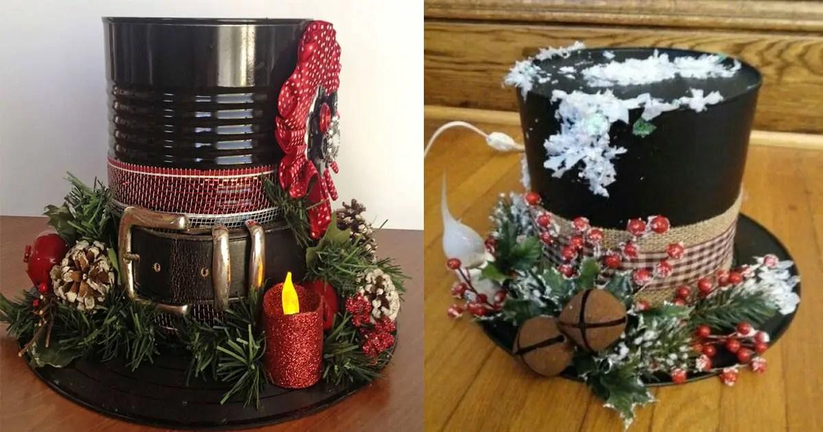 1dbab7269ccc4 Sombrero navideño con material reciclado - Dale Detalles