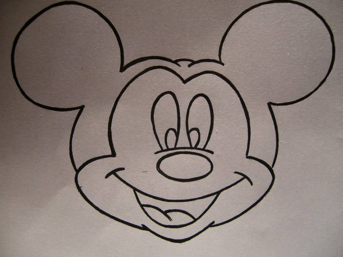 Como Dibujar La Cara De Mickey Mouse Dale Detalles