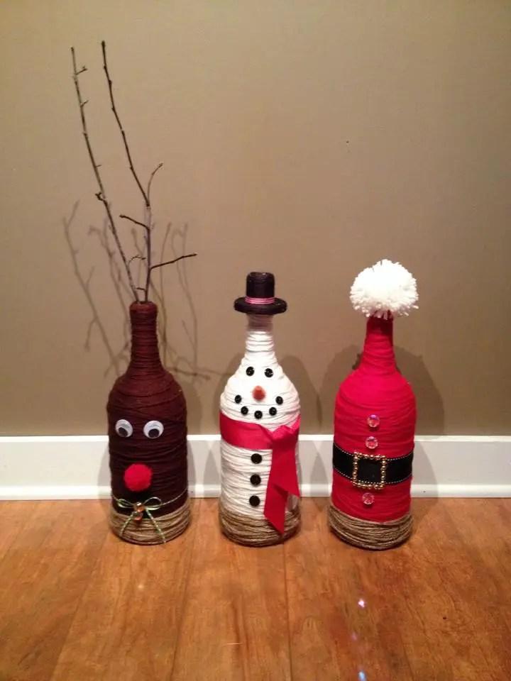 Lámparas navideñas con botellas de vino recicladas   dale detalles