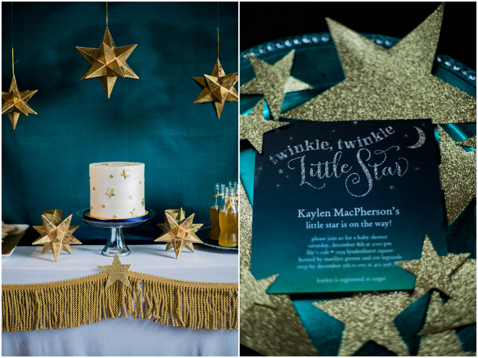 Baby Shower Cake Twinkle Twinkle Little Star Rosa Y Azul