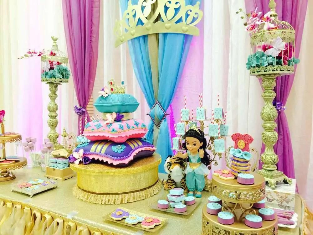 Princesa jasmin dale detalles for Decoracion cumpleanos princesas