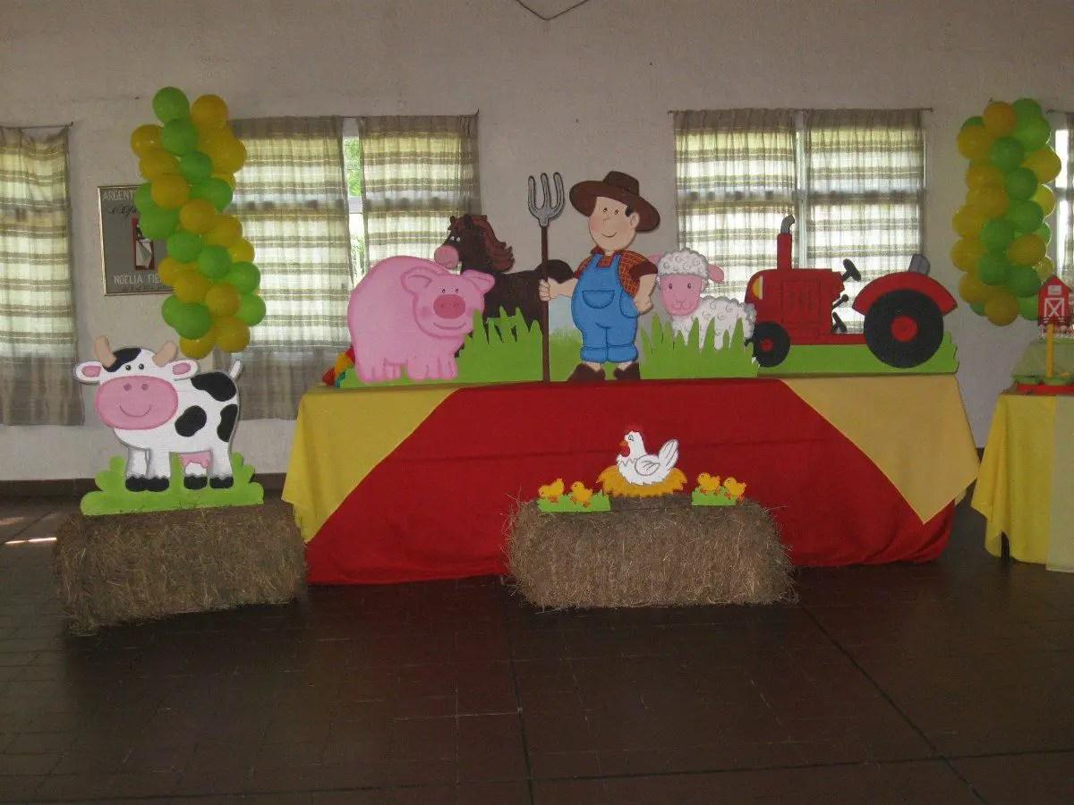 Fiesta inspirada en la granja dale detalles - Como preparar un cumpleanos infantil en casa ...