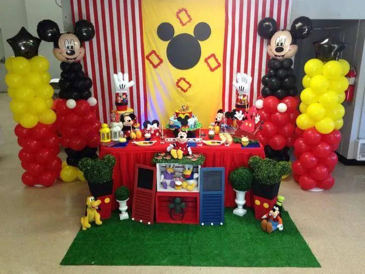 Fiesta tema mickey mouse dale detalles - Ideas para fiestas de cumpleanos infantiles en casa ...