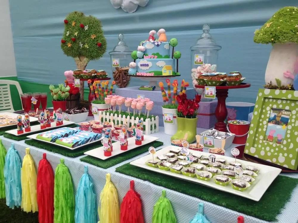 Peppa pig dale detalles - Decoracion para cumpleanos infantiles en casa ...