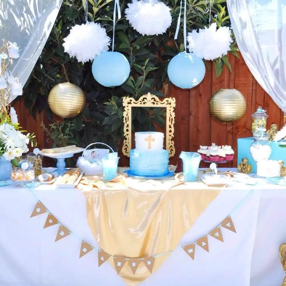 Bautizo para ni o dale detalles for Decoracion fiesta bautizo