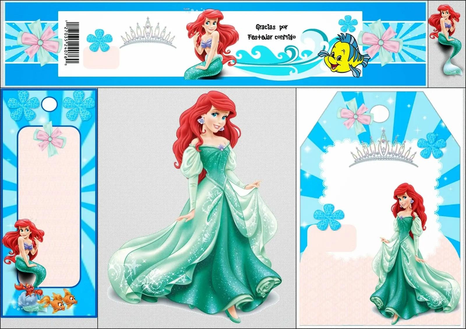 Imprimibles gratis de La Sirenita Ariel - Dale Detalles