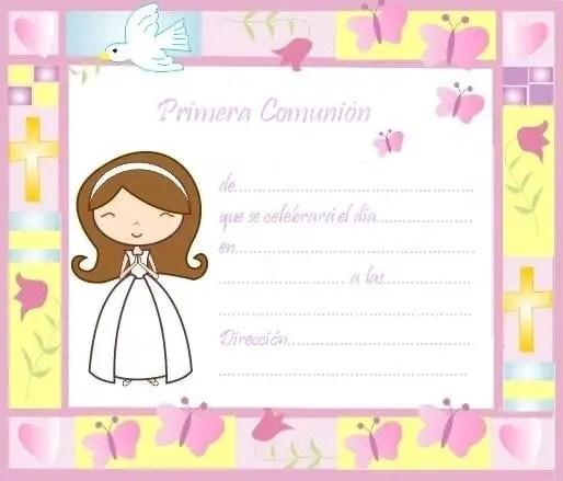 primera comunion invitacion