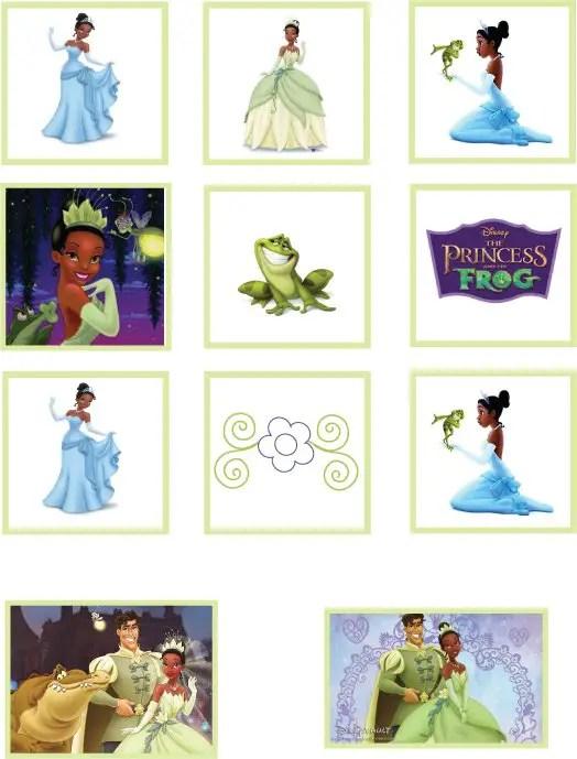 princesa y sapo imprimible