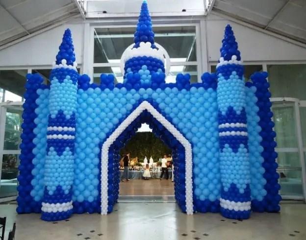 globo castillo azul